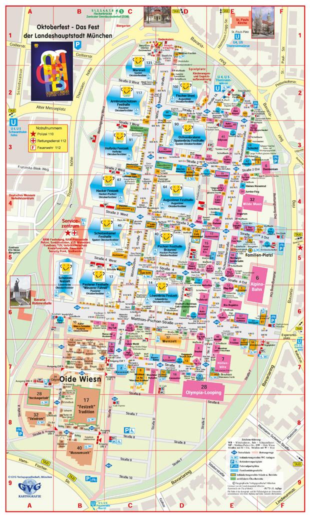 oktoberfest map 2018